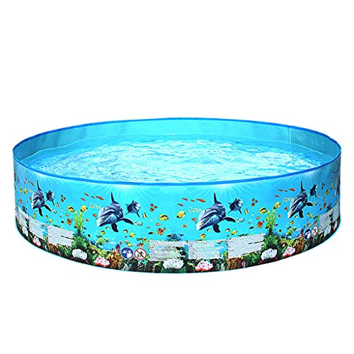 Kanpola Planschbecken für Kinder Rund Snapset Pool Aufstellpool Kinderpool, Schadstofffreie PVC-Folie, Schwimmbecken mit Festen WäNden,122 X 25cm/152 X 25cm/183 X38cm