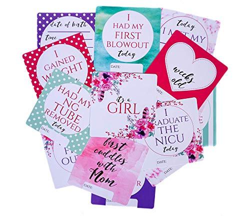 Trois petits tots – Cartes en plastique pour fille Preemie NICU – Sans danger pour désinfecter, écrire, essuyer et réutiliser