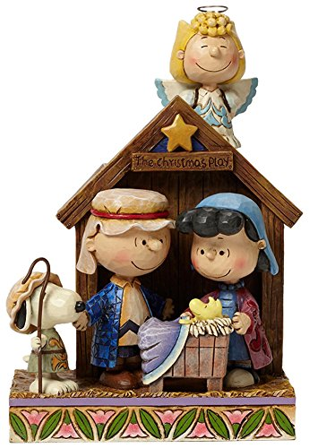 """Peanuts by Jim Shore Peanuts Christmas Pageant Stone Resin Figurine, 7.5"""""""