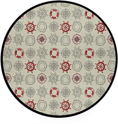 Lanrui Pastelltöne Teppiche for Zimmer Rund Absorbent Fußmatte Indoor Outdoor Teppich Flur Fussboden Schlafzimmer Wohnzimmer Studie Anti-Rutsch-Leben (Color : 2)