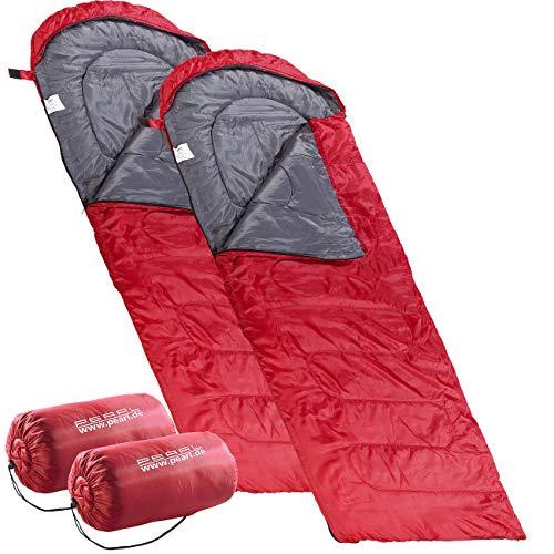 PEARL Trekkingschlafsack: 2er-Set superleichte Sommer-Schlafsäcke, Deckenschlafsack: 210 x 75 cm (Superleichter Sommerschlafsack)
