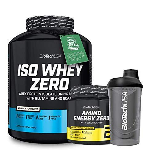 Biotech Usa Iso Whey 2kg Avellana + Amino Energy Zero + Batidor