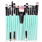 15 pinceles de maquillaje conjunto cosméticos cara maquillaje herramientas belleza mujer fundación rubor sombra de ojos corrector