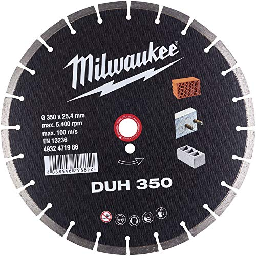 MILWAUKEE Disco de corte en húmedo de diamante DUH 350 x 2,8 mm