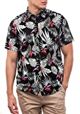 Hurley M Exotic Stretch Woven S/S Camisa, Hombre, Black