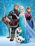 Große Frozen 2 Die Eiskönigin Sven Kuscheldecke 130 x 170 cm super weiche Fleecedecke Wohndecke Sofadecke Disney Anna ELSA Olaf Kristoff Arendelle Völlig unverfroren Pass. zur Kinderbettwäsche