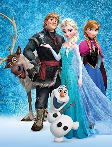 Manta grande Frozen 2 La reina del hielo Sven de 130 x 170 cm, supersuave, manta de forro polar, manta de sofá Disney Anna ELSA Olaf Kristoff Arendelle totalmente libre para ropa de cama infantil