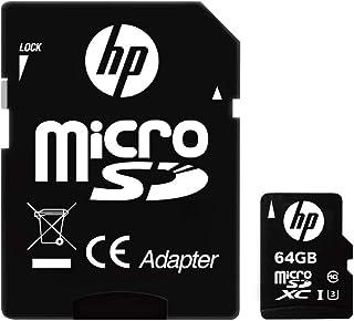 【Amazon.co.jp 限定】HP microSDXCカード 64GB UHS-I(U3) 4K Class10対応 最大読出速度100MB/s 1年間保証 HFUD064-1U3 GJP