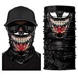 3D Venom Multi-Style FACE Scarf Neck Gaiter Headband Bandana Du Rag Balaclava for Cycling Fishing Hiking Motorcycles Drive Black