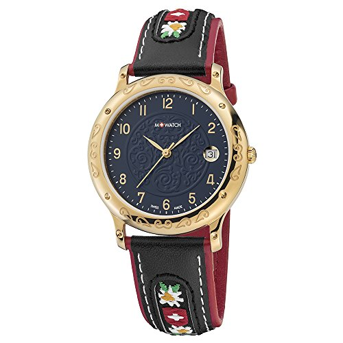 M WATCH Swiss Made Tradition Orologio da uomo/donna, Data e cassa color...