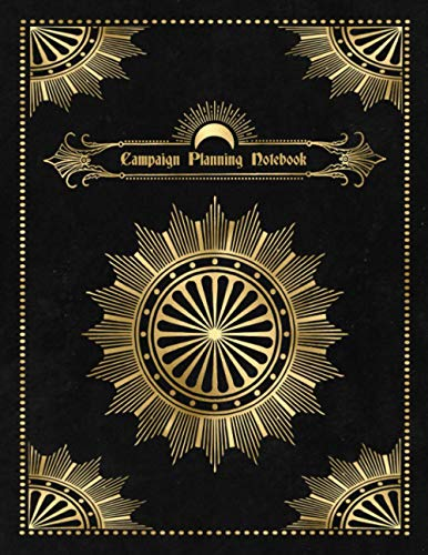 Campaign Planning Notebook - Black Edition: Dungeon Master journal ideal for D&D, RPG, Pathfinder, melee combat games, and more