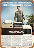 Sary buri Metal Tin Sign Poster 1978 IBM 5110 Under $18,000