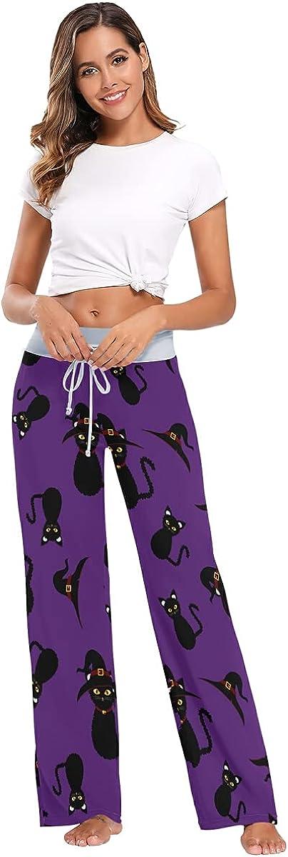 Jdadrh Women's Comfy Pajama Pants Casual Stretch Pant Drawstring Palazzo Lounge Pants Wide Leg Pj Bottoms