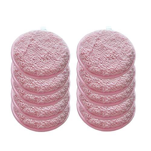 Topwon - Almohadilla de limpieza facial para lavar la cara, toallitas reutilizables para eliminar maquillaje, sin productos químicos (10 unidades)