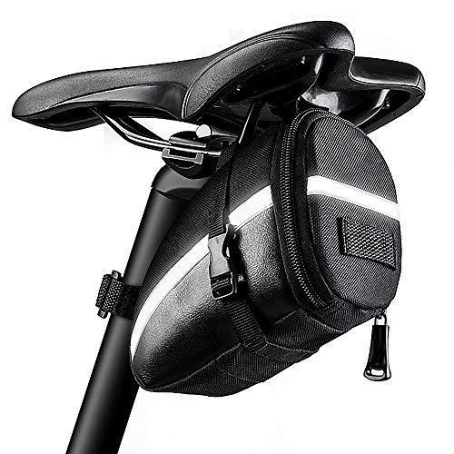 KDWOA Bolsa Bicicleta Bolsa de Sillín Impermeable para Bicicleta con Cremallera