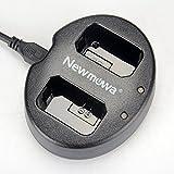 Newmowa NP-FW50 対応 USB充電器 デュアルチャネル バッテリーチャージャー 互換急速充電器 Alpha a3000 a5000 a5100 Alpha a6000 a6300 a6400 a6500 Alpha 7 a7 7R a7R a7RM2 7S a7S aNEX-5 aNEX-5N aNEX-5R NEX-5 ILCE-QX1 Cyber-shot RX10 IV