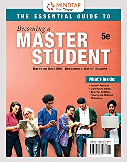MindTap College Success, 1 term (6 months) Printed Access Card for Ellis' The Essential Guide to Becoming a Master Student, 5th