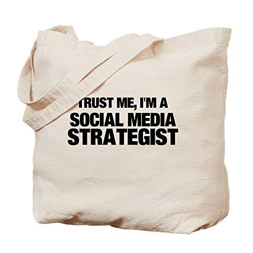 CafePress Trust Me, I'm A Social Media Strategist Tragetasche, canvas, khaki, M