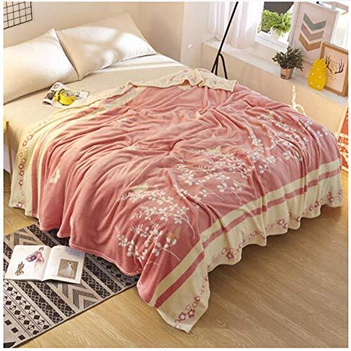 misshxh flanel deken, grote grootte super zachte lakens met pruik patroon, geschikt voor enkele en tweepersoonsbedden, bank deken 180x200cm