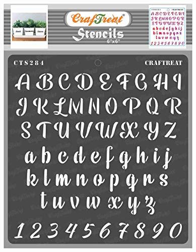 CRAFTREAT Schablone Zahlen und Buchstaben Chalk Caps Alpha 6