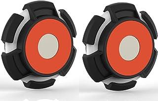 Hengyuan 2 pièces Housse en TPU Souple pour Apple Airtag, Housse de Protection Antichoc Anti-Rayures, Support de Suivi mag...