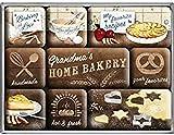 Nostalgic-Art Juego de Imanes Retro Home Bakery – Idea de Regalo para la Cocina, Decoración para la Nevera, Diseño Vintage, 7x9.3x2 cm