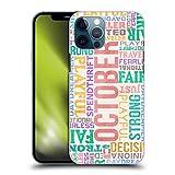 Head Case Designs Ottobre personalità dei Mesi di Nascita Cover Dura per Parte Posteriore Compatibile con Apple iPhone 12 PRO Max