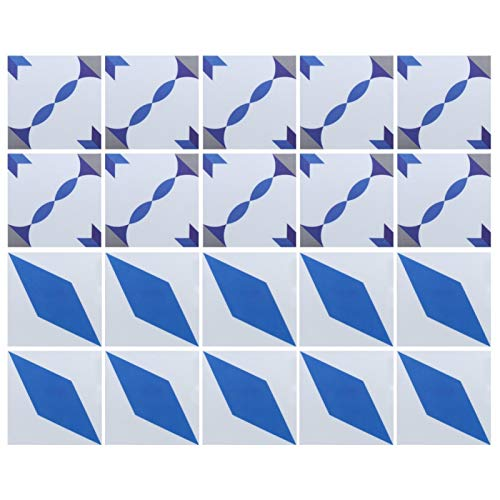 Supplies-20Pcs/Set 20x20cm Antideslizante Impermeable Azulejo de pared Calcomanía Pegatinas de azulejos de cerámica Decoración del hogar