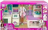 Barbie Doctora con Clínica médica, muñeca con accesorios de medicina de juguete. Incluye juego de plastilina Mattel GTN61