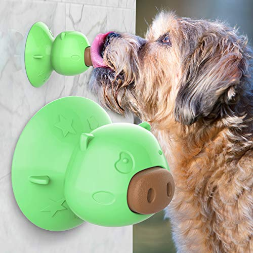 Dog Chew Toys ,Indestructible Dog Natural Rubber Toys,Powerful Suction Cup,Teeth Cleaning Toys for Puppy Small Medium Large Dogs (Green, Dog Chew Toys with Powerful Suction Cup)