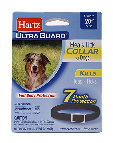 Hartz UltraGuard Black Flea & Tick Collar for Dogs & Puppies - 20' Neck, 7 Month Protection