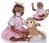ZIYIUI 21 Pulgadas 52cm Muñecas Reborn Bebé Mono Cuerpo Completo Realista Silicona Suave Vinilo Hecho a Mano Barato Magnético Reborn Niño Dolls