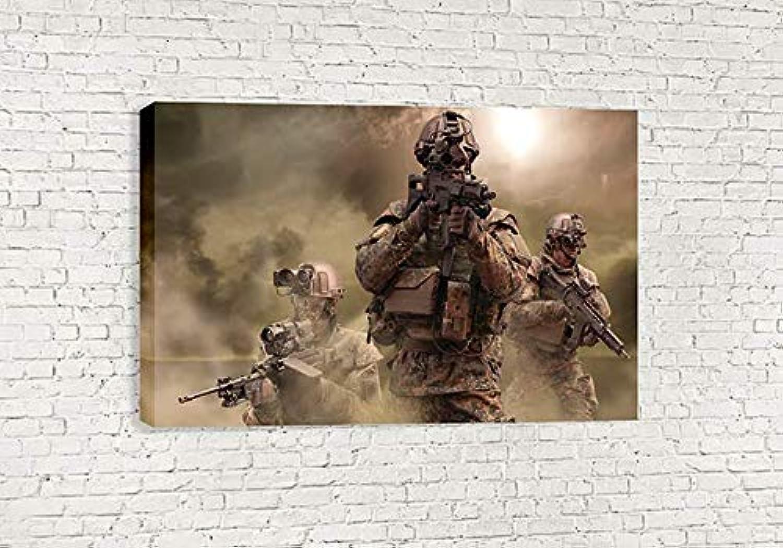 mejor calidad Moderno ejército soldaños lienzo (30 X 18  75x 75x 75x 45cm)  A la venta con descuento del 70%.