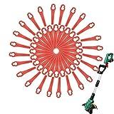 90 Stück Rasentrimmer Ersatzmesser, Rasentrimmer Messer, Rot Kunststoffmesser Ersatzmesser, Kunststoffmesser für Akku Rasentrimmer, Rasentrimmer Zubehör, für FRT18A FRT18A1 Kunst 46155 FRT20A1