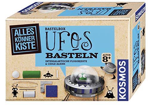 KOSMOS 604127 - AllesKönnerKiste UFOs basteln. DIY-Bastelset für Mädchen und Jungen ab 8 Jahren. Das ideale Geschenk-Set für den Kindergeburtstag