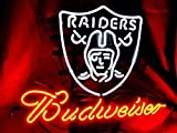 Desung New 20'x16' Oakland Sports League Raider Budweisers Neon Sign (Multiple Sizes) Man Cave Bar Pub Beer Handmade Neon Light FX157