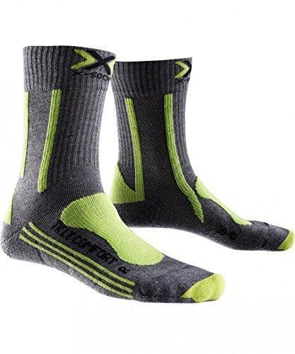 X-SOCKS Chaussettes de randonnée légères et Comfort Lady, Mixte, X020290, Gris/Vert, 35/36