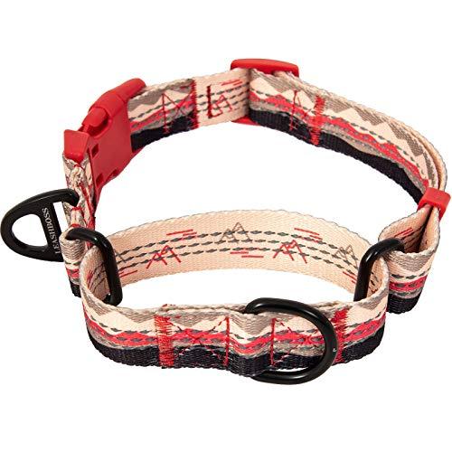 Leashboss Pattern Martingale Dog Collar, Reflective No-Pull Training Collar, Pattern Collection (Mountain Pattern - Medium-Large 16-19