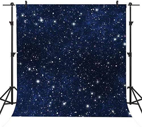 Sensfun 8X8ft Night Starry Sky Photography Backdrop Shiny Galaxy Stars Wedding Photo Studio product image