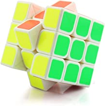 Wings of wind - 3x3x3 Speed Cube, Eco-friendly Plastics Magic Cube Stickerless Smooth Puzzle Cube (White)