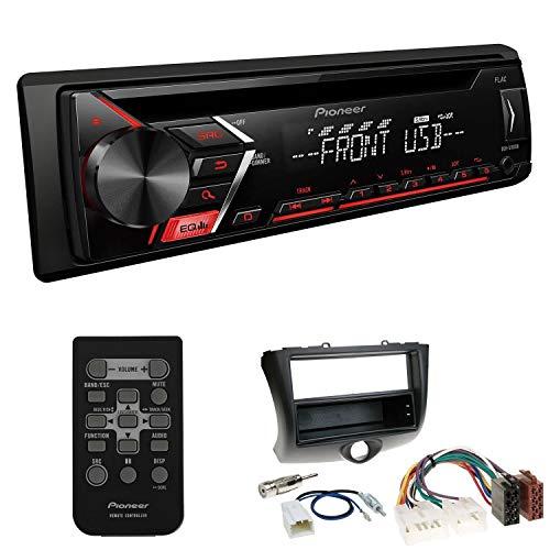 EHO Autoradio 1-DIN Einbauset passend für Toyota Yaris Verso Facelift inkl Pioneer DEH-S101UB mit Fernbedienung