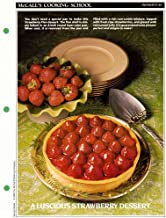 McCall's Cooking School Recipe Card: Desserts 48 - Strawberry Flan (Replacement Recipage / Recipe Card For 3-Ring Binders)