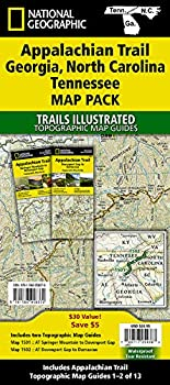 Appalachian Trail  Georgia North Carolina Tennessee [Map Pack Bundle]  National Geographic Trails Illustrated Map