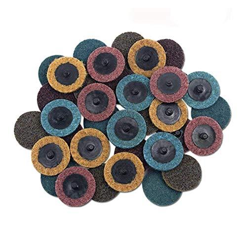30 unids 2 pulgadas Roloc disco paquete mixto (grueso / medio / fino), discos de acondicionamiento de superficie, para la molinadora de la superficie de preparación de la tira de la tira de la tira de