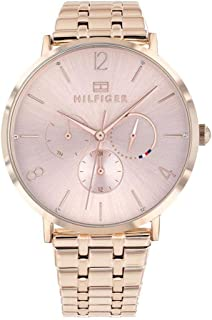Tommy Hilfiger 1782030 Womens Quartz Watch, Analog Display and Stainless Steel Strap, Rose Gold