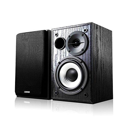 Edifier Studio R980T 2.0 Lautsprechersystem (24 Watt), Regallautsprecher in schwarz