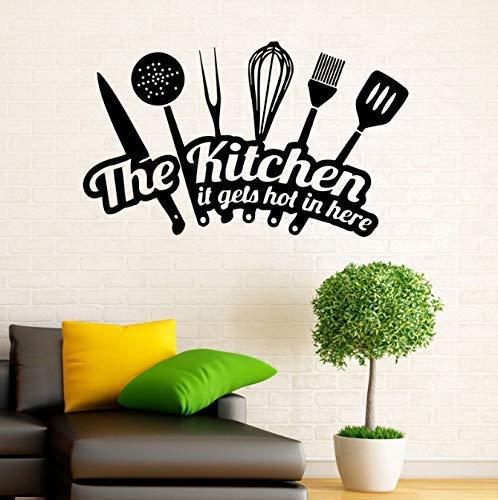 Keukenwand vinyl sticker bestek sticker interieur huishoudelijke artikelen design huis keuken decor keuken waterdichte kamerdecoratie 70 x 42 cm