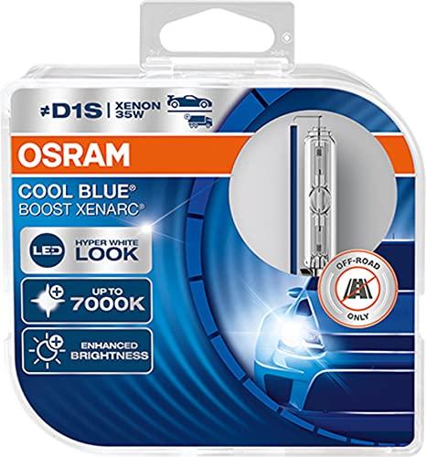 OSRAM 66140CBB-HCB OSRAM XENARC Cool Blue Boost D1S, HID headlamp, 66140CBB-HCB, hyper blue light, 85V, 35W, offroad-only, duobox (2 lamps)