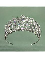 SWEETV Cristallo Corona Regina - Donna Diadema Sposa Nozze, Corona Principessa per Compleanno, Halloween, Natalizia