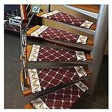 SOAR Alfombrillas Antideslizantes Escalera Peldaño 15pcs Escalera de caracol banda de rodadura Mat giro a la derecha de la escalera de la alfombra, antideslizante Paso cojín interior manta de protecci